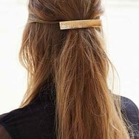 Perforated Metal Barrette- Gold One