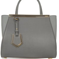 Fendi - 2Jours small textured-leather shopper
