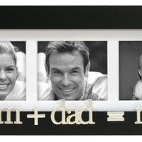Mom+Dad=me Wood 3 Opening Picture Frame Collage for 3x3