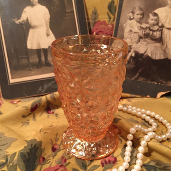 1950's Amber Carnival Juice Glass/Carnival Glass/Vintage/Drinking Glass