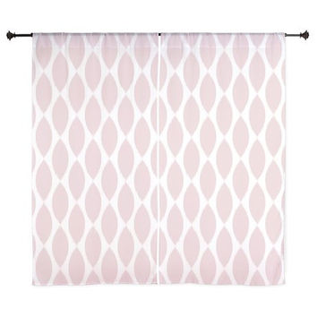 Pink Curtains - Chiffon Curtains - Sheer Curtains - Dorm Room Curtains - Girls Curtains - Bedroom Curtains - Teen Curtains - Teen Decor