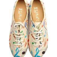 Elite Goby Music Print Sneakers - Funky Handbags and Shoes - Modnique.com