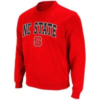 NC State Wolfpack Arch Logo Crew Sweatshirt – Red