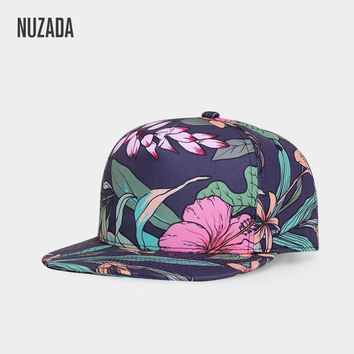 Trendy Winter Jacket Brands NUZADA 2017 Leopard Men Women Baseball Cap Snapback Printing Flowers Couple Hip Hop Hats Quality Cotton Caps Bone AT_92_12