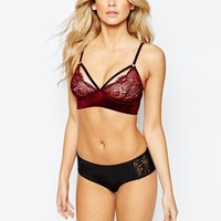 New Look Velvet Bralet at asos.com