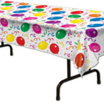 Balloons & Confetti Tablecover Case Pack 12