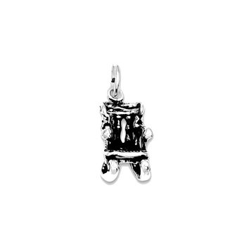 Sterling Silver Antiqued Rocking Chair Charm