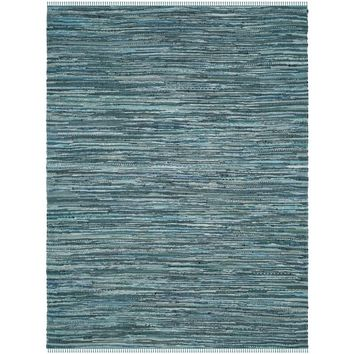 Safavieh Hand-Woven Rag Cotton Rug Turquoise/ Multicolored Cotton Rug (4' x 6') | Overstock.com Shopping - The Best Deals on 3x5 - 4x6 Rugs