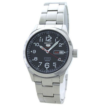 Seiko SRP269 Men's 5 Sports Automatic Black Dial Stainless Steel Bracelet Watch