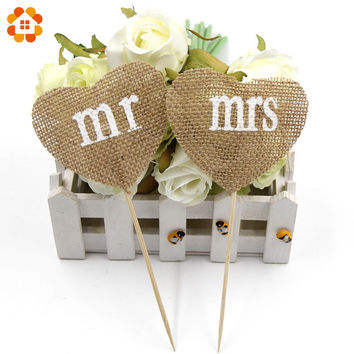 Mr&Mrs Design Cup Cake Toppers