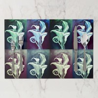 Bohemian Calla Lillies Design Placemat