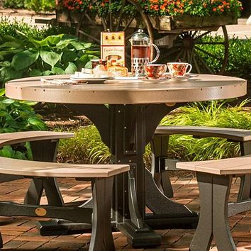 LuxCraft Recycled Plastic 4' Round Table