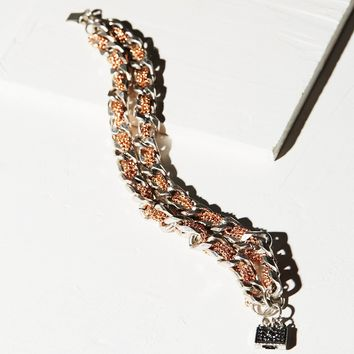 Free People Woven Chain Double Bracelet