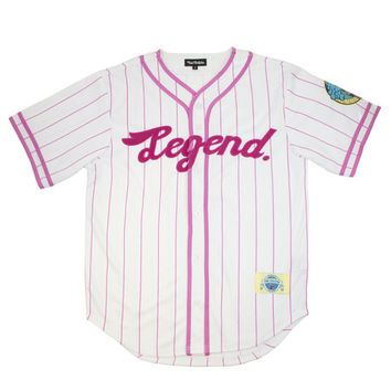 Pink+Dolphin - *LTD* Legend Baseball Jersey in White