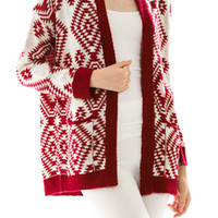 TUSCAN RED CARDIGAN
