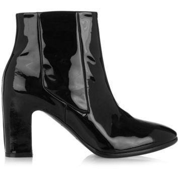 ONETOW balenciaga patent leather chelsea boots 2