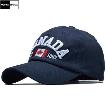 Trendy Winter Jacket [NORTHWOOD] New Canada Embroidery Baseball Cap Women Summer Hats Caps Men Snapback Letter Trucker Cap Casquette Homme AT_92_12