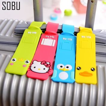 2017 New Rubber Funky Travel Luggage Label Straps -Suitcase Identity Tags Luggage Tags