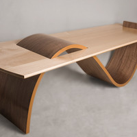 S Shape Table by Ian Eldridge: Wooden Table | Artful Home