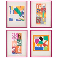Group of Four Vintage Lithographs after Henri Matisse from Verve Magazine
