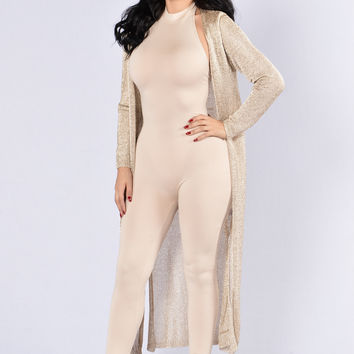 Spark It Cardigan - Gold