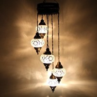 Hand made White Lamps Chandeliers Art