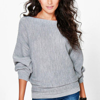 Stylish Knit Winter Batwing Sleeve Sweater [8348556545]