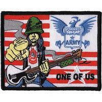 The Ramones Iron-On Patch Johnny Ramone Army One Of Us Logo