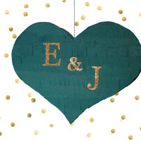 Wedding Pinata //  Personlized Wedding Pinata Heart Piñata with Custom Initials