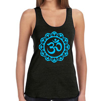 Om Symbol in a Flower Tank Top