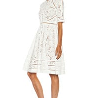 Roamer Day Cotton Dress in White