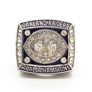 1980 Oakland Raiders World Champions Rings with brown wooden box