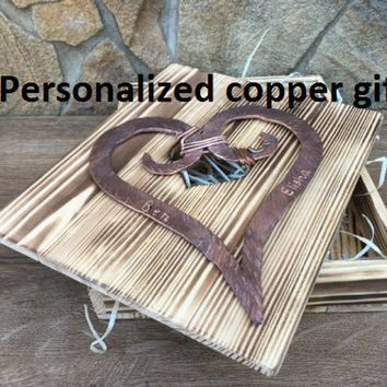 Copper gift for her, copper gift, 7 year gift, 7th anniversary gift, copper anniversary gift, copper heart, copper gifts, copper wedding