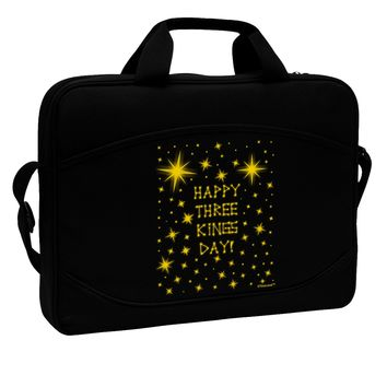 "Happy Three Kings Day - Shining Stars 15"" Dark Laptop / Tablet Case Bag by TooLoud"