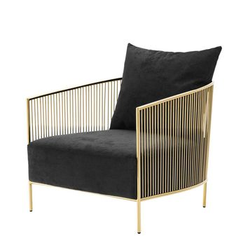 Gold & Black Chair | Eichholtz Knox