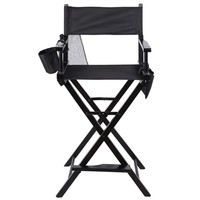 Professional Makeup Artist Directors Chair Wood Light Weight Foldable Black New