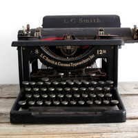 Antique Typewriter Vintage LC Smith and Corona by SnapshotVintage