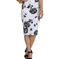 Sale-white Whos That Lady Pencil Skirt
