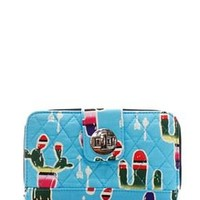 Quilted Wallet Cactus Print