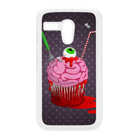 Snacks of the Dead - Cupcake White Hard Plastic Case for Moto G by DevilleArt