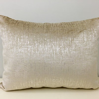 Robert Allen Ivory Pearl Velvet Pillow Cover,Lumbar Pillow,Velvet Pillow,Decorative Pillows,Cushion Covers,Ivory Velvet Couch Throw Pillows