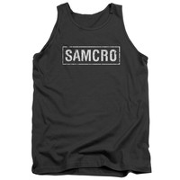 SONS OF ANARCHY/SAMCRO-ADULT TANK-CHARCOAL