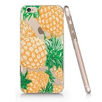 Pineapple Pattern Iphone 6 case, Iphone 6 Case Slim White Cover Skin (4.7'' Screen)- Quindyshop (AM435)
