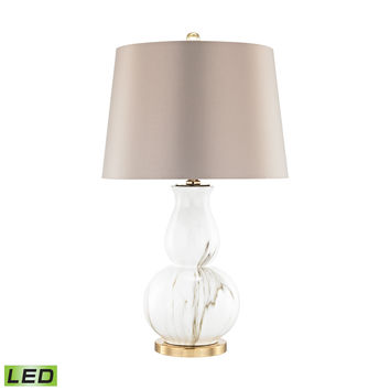 Vicenza LED Table Lamp Gold,White Faux Marble