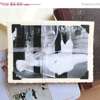 ON SALE photo greeting card vintage style ballet art blank notecard greeting handmade paper black and white photography handmade