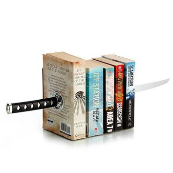 QSHOIC Sword Bookends With Hidden Bracket Magnetic Bookend Bookshelf Bracket Home Office Storage office accessories