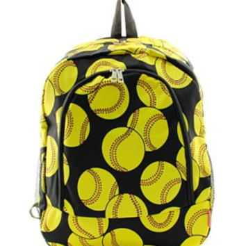 Softball Print Backpack