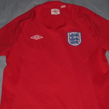 EUC Umbro England Away 2010/2011 Soccer Jersey Football Shirt Size Boys 8