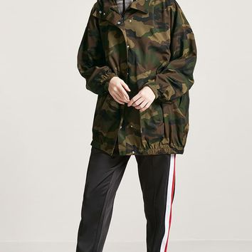 Hooded Camo Utility Jacket