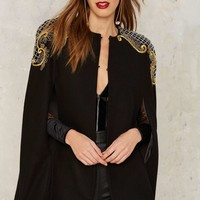 Nasty Gal Collection Carillo Embroidered Cape
